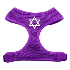 Mirage Pet Products Star of David Screen Print Soft Mesh Dog Harnesses, X-Large, Purple ** Unbelievable dog item right here! : Dog Cold Weather Coats