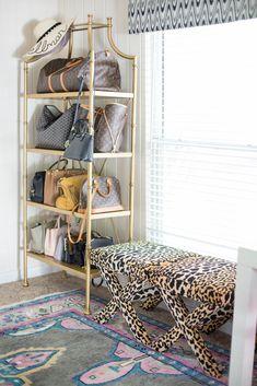 Office Tour Chronicles of Frivolity Dressing Room Closet, Closet Bedroom, Bedroom Decor, Dressing Rooms, Organiser Son Dressing, Handbag Storage, Dream Closets, Purse Organization, House Design