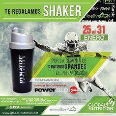 No te pierdas esta super promoción en las cafeterias de @PowerClubPANAMA donde te regalan un #Shaker con la compra de 3 batidos gracias a @globalnutrition #YoEntrenoEnPowerClub
