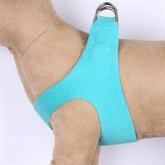 This blue step in harness is great for those who want the convenience of an easy walk harness and no-choke comfort for their dog. Like all doggie designs by Susan Lanci, this no pull dog harness is made from genuine upholstery grade Ultasuede® fabric t