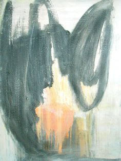 """OOAK Hand Painted Modern Abstract Impressionism Stretched Canvas Mixed Media Painting 18x24 """"Blur"""""""