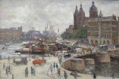 Gevonden op marktplaats.nl via Google Evert Moll      Amsterdam                olieverf op linnen