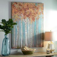 Golden Birch Forest Canvas Art Print | Kirklands