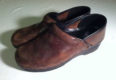 Dansko Brown Clogs With Strap Womens size 39 US size 8.5 - 9 on Etsy, $37.11