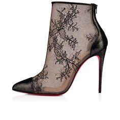 e89f49d527fb Gipsybootie SPC 100 Version Black Dentelle Laquee - Women Shoes - Christian  Louboutin