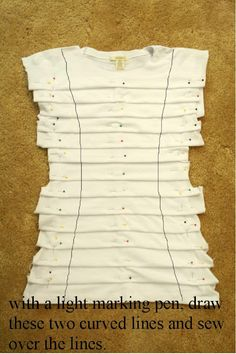 t shirt re-purpose/upcycle: The finished product is TOO CUTE!!!