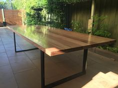 Large Handmade Local Vic Oak Ash Dining Table Industrial Steel Gorgeous Handmade Dining Room Tables Design Inspiration