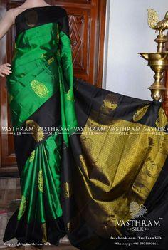 Pure kanchipuram silk Cost: 10500 inr Whatsapp: 91 7019277192