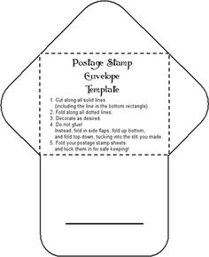 Postage Stamp Envelope Template To Print And Find Other Templates In This Site