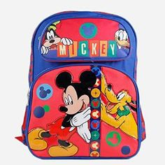 4bb430901d0 Disney Mickey Mouse and Friends 16 School Backpack Bag   Check out the  image by visiting the link.