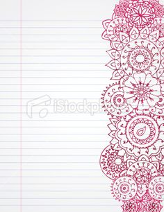 Doodle Henna Royalty Free Stock Vector Art Illustration
