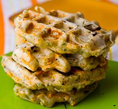Savory herb & cheese waffles
