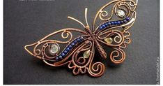 de Cor's Handmades - Malaysia Handmade Jewelry: Wire Wrapped Copper Butterfly