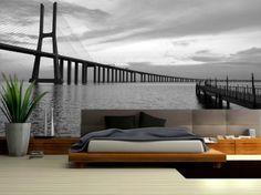 bedroom idea photo wallpaper / wall mural #wallpaper #wallmural #photowallpaper…