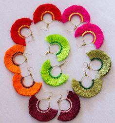 $10 Hoop Tassels Earrings/hippie/boho by CHEZMOIMYHOME on Etsy