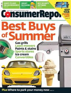 Consumer Reports love the magazines and the books