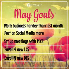 Here are my May Goals. Want to join my team and be eligible for a $500 bonus in your first 2 calendar months??   Message me today and I will help you earn that $500 bonus crazywrapswithapril@gmail.com