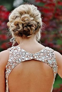 I know this is supposed to show off the bun... but i just like the back of this dress!