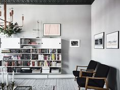 Bold colour combinations in a Swedish apartment (more images here) gravityhomeblog.com - instagram - pinterest - bloglovin