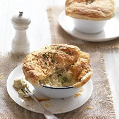 Collect this Chicken, Leek and Mushroom Pies recipe by Australian Mushroom Growers. MYFOODBOOK.COM.AU | MAKE FREE COOKBOOKS