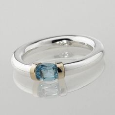 sterling silver gem set tension ring by anthony blakeney | notonthehighstreet.com
