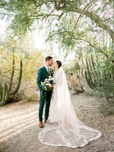A Palm Springs wedding at a mid-century home - 100 Layer Cake Green Wedding Suit, Wedding Suits, Wedding Attire, Wedding Dresses, Green Tux, Gown Wedding, Lace Wedding, Wedding Picture Poses, Wedding Poses