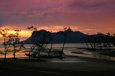 Sunset over Telok Assam with Santubong in the background, Bako National Park...maybe one day I will go back there??