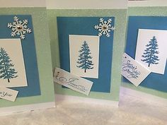 STAMPIN UP CARD KIT HANDMADE JESUS NEW YEAR MAKES 10 CARDS SNOWFLAKE CHRISTMAS