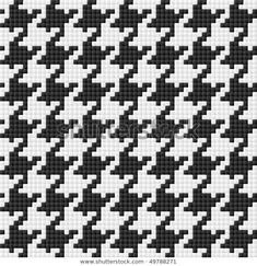Find Houndstooth Pattern Seamless Vector stock images in HD and millions of other royalty-free stock photos, illustrations and vectors in the Shutterstock collection. Thousands of new, high-quality pictures added every day. Tapestry Crochet Patterns, Bead Loom Patterns, Weaving Patterns, Cross Stitch Patterns, Pixel Crochet Blanket, Plaid Crochet, Knitting Charts, Knitting Stitches, Knitting Designs