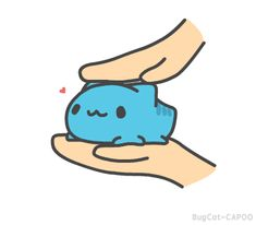 When you pet the kitty so much it practically melts in your hand Cute Animal Drawings, Kawaii Drawings, Cute Drawings, Beste Gif, Funny Animals, Cute Animals, Animation, Blue Cats, Cute Comics
