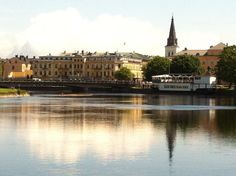 Beautiful Karlstad and the river Klarälven