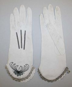 Gloves: ca. 1910, French (probably), leather.