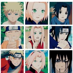 Uzumaki Naruto, Haruno Sakura, Uchiha Sasuke. Because time passes and no one can stop its flow.