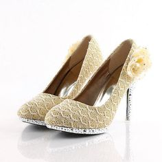 Womens Bling Bling Rhinestone High Heel Floral Wedding Bridal Shoes Summer Pumps - EXCLUSIVE DEAL! BUY NOW ONLY $39.99