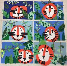 grade art projects animal art activities for preschoolers new best grade art projects images on . Art Education Lessons, Art Lessons Elementary, Kindergarten Art Lessons, First Grade Art, Jungle Art, Jungle Theme, Preschool Art Activities, Animal Art Projects, Art Lesson Plans