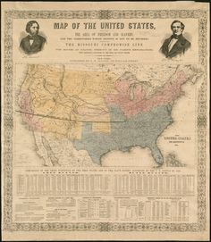 In There Were Free States And Slave States Missouri - 1819 map of us free and slave states