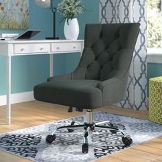 Anja Home Task Chair – Executive Home Office Design Home Office Chairs, Office Furniture, Pipe Furniture, Shabby Chic Office Chair, Steel Furniture, Furniture Outlet, Cheap Furniture, Discount Furniture, Furniture Plans