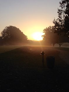 Morning sunrise on the tee.