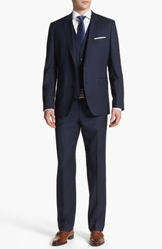 Love this suitz!!   BOSS HUGO BOSS 'James/Sharp' Trim Fit Three Piece Suit available at #Nordstrom