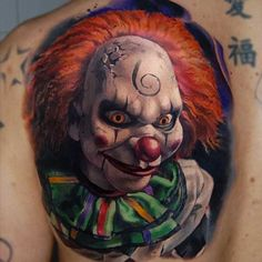 20 Horrifying Clown Tattoos That Will Haunt Your Dreams - TattooBlend