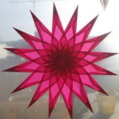 Large Pink Suncatcher Window Star