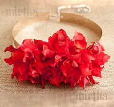Cinturón de flores Versalles Rojo