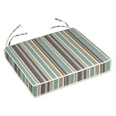Cushion Source 21 x 19 in. Striped Sunbrella Chair Cushion Brannon Whisper - RF98F-5621