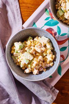 Almás-sajtos kukoricasaláta recept | Street Kitchen