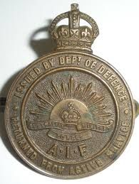 Returned from active service badge AIF Military Service, Wwi, Badge, Posters, History, Historia, Poster, Badges, Billboard