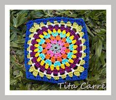 Square Circle ou Círculo Colorido em crochet - Como você desejar..