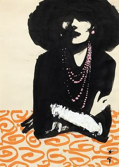 NohaNoor: Rene Gruau ........ (Fashion Illustrator)