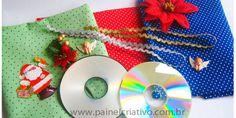 Passo a Passo Enfeite de Natal com CD