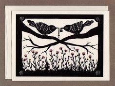 This is from one of my favorite paper cutters. Love birds and keys!