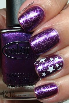 Purple Christmas nails  CLICK.TO.SEE.MORE.eldressico.com